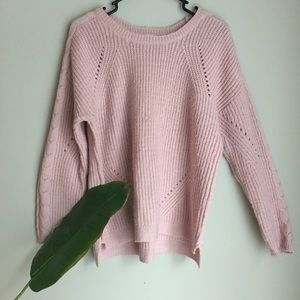 Pink Rose Blush Pink Knit Sweater